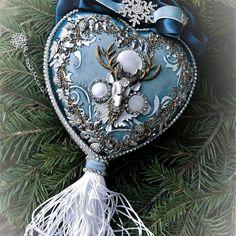 Купить «Северное сияние» интерьерный медальон из керамики - новогодние игрушки, интерьерная композиция, эксклюзивный подарок