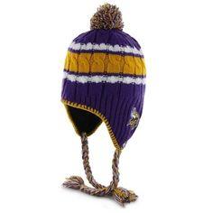 47 Brand Minnesota Vikings Womens Purple McKenzie Tassel Pom Knit Beanie 059cc6fd0