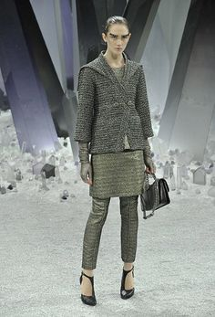 my version of a 3pc suit...Paris Fashion Week: Chanel autumn/winter 2012