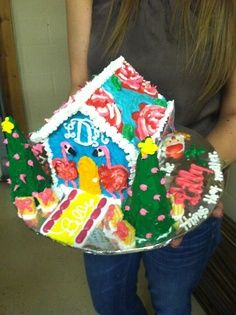 Lilly Pulitzer gingerbread house