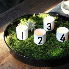 This is what I plan to to this year with my advent candles
