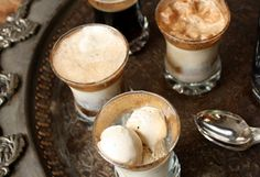 Mini Stout and Root Beer Floats-   a surprising alternative to an American favorite. Serve alongside Mash Bill Truffles.