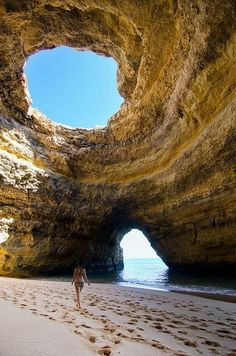 Sea Cave in Algarve, Portugal