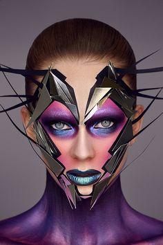 Alien Makeup, Eye Makeup, Hair Makeup, Crazy Makeup, Makeup Looks, Halloween Make Up, Halloween Face Makeup, Exotic Makeup, Arte Peculiar