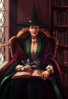 Minerva McGonagall * THIS is more like how I pictured Professor McGonagall when I first read Harry Potter. I still love Maggie Smith, too; I do not wish to dismiss the perfection of her portrayal in the films.drf