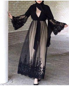 Latest Abaya designs for 2018 Modest Fashion Hijab, Modern Hijab Fashion, Hijab Casual, Hijab Fashion Inspiration, Fashion Dresses, Casual Wear, Iranian Women Fashion, Islamic Fashion, Muslim Fashion