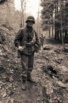 """an American rifleman from january or febuary 1945. I use it for the last march """"in the footsteps of the 82nd airborne division""""."""