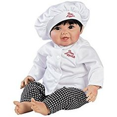 Paradise Galleries Realistic Looking Asian Baby Doll - Chef Doll - Bon Appetit, 20 inch GentleTouch Vinyl With Weighted Body