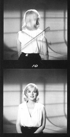 Marilyn Monroe in a costume and hair test for The Misfits in 1961