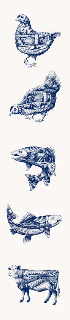 Tattoo inspiration... Blue Goose Pure Foods by Flavio Carvalho