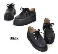 creepers| $6.99  nu goth pastel goth punk grunge creepers neogal fachin shoes platforms flatforms under10 under20 under30 cndirect