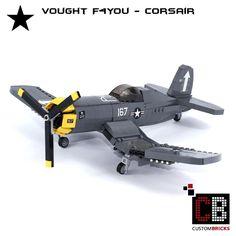LEGO_Custom_WW2_Warplane_Vought_F4You_Corsair_CB01 by LA-Design2012 http://j.mp/2gVxDot