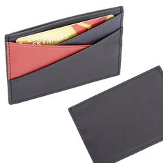 Three-color Credit Card Wallet by Royce Leather
