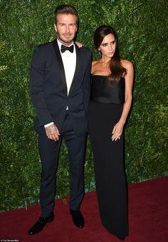 David and Victoria Beckham - 60th London Evening Standard Theatre Awards. (November 30, 2014)