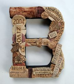 Customized Handmade Vintage Wine Cork Letter - Small Size - We Have EVERY Letter. $49.50, via Etsy.