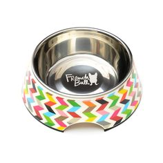 French Bull Stainless Steel and Melamine Designer Dog Bowls for Dogs or Cats, Small, White >>> Trust me, this is great! Click the image. : Stuff for dog