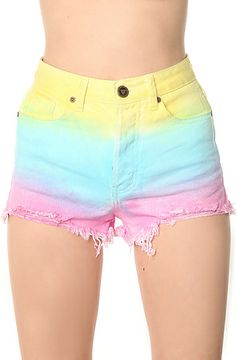 The Guess What Shorts in Cotton Candy; Pastels. Those are so cute…for a 10 year old! That girl needs to return them to her little sister & stop wearing things too small for her! ~AF