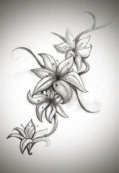 Image detail for -Butterfly Lily ready color by *2Face-Tattoo on deviantART