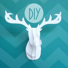 Know and Tell Crafts: Faux Taxidermy Deer Diy!