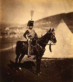 Crimean War 1853 - 1856    Cornet Henry John Wilkin, 11th Hussars.  Roger Fenton 1855