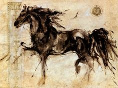 This would be beautiful on my wall - big- to invite guests into my horse world