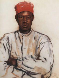 Cassis Senegalese Soldier, 1928, Zinaida Serebriakova
