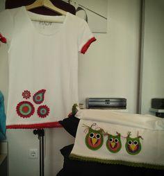GEMITA CROCHET : camisetas decoradas