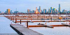 Melbourne from St Kilda Beach,AUSTRALİA