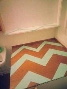 Diy paint mint white shelve 50s bathroom bad oppussing
