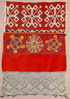 Russian Embroidery, Folk Embroidery, Embroidery Patterns, Knitting Patterns, Russian Fashion, Russian Style, Russian Folk Art, Printing On Fabric, Art Decor