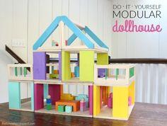 DIY Modular Dollhouse & Furniture | That's My Letter | Bloglovin