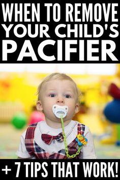 7 Pacifier Weaning Tips that Work | If you want to know how to get rid of the pacifier once and for all, these tips are sure to inspire you! Perfect for kids of any age – from baby, to toddler, to older kids – these ideas go beyond going cold turkey and will help mom and dad find a system that works so they can say 'bye bye' to the paci forever! No one said parenting is easy, but these fun ideas will help make it less overwhelming! #getridofpacifier #pacifierweaning #paci Pacifier Weaning, Weaning Toddler, Break A Habit, Young Baby, Binky, Craft Activities For Kids, Baby Hacks, Bye Bye, Kids Education