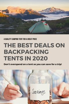Finding the best budget backpacking tent will be easy once you've read this guide. Find the best backpacking tent for your trip with our top picks and expert guide. Best Backpacking Tent, Best Camping Gear, Tent Camping, Camping Hacks, Travel Tips, Budget Travel, Travel Destinations, Best Travel Backpack, Cool Tents