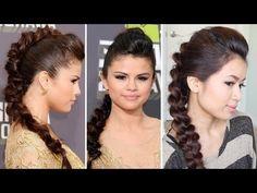 Selena Gomez MTV Movie Awards 2013 Hairstyle | Braided Faux Hawk Hair Tutorial