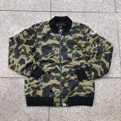 3ac16c969607 Bape 1st Camo MA-1 Bomber Green Camo