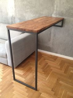 Retro casual cafe bar wall table home high bar table long solid old furniture small spaces Steel Furniture, Pallet Furniture, Home Furniture, Unique Furniture, Furniture Ideas, Industrial Design Furniture, Furniture Design, Interior Design Living Room, Living Room Designs