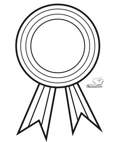 Medalla para colorear - Dibujalia - Dibujos para colorear - Profes ...
