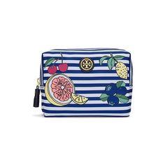 Tory Burch Printed Nylon Brigitte Cosmetic Case (295 SAR) ❤ liked on Polyvore featuring beauty products, beauty accessories, bags & cases, cosmetic bags & cases, makeup bag case, travel bag, travel dopp kit und toiletry kits
