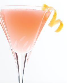 jasmine-cocktail: 1½ oz. gin ¾ oz. fresh lemon juice ¼ oz. Campari ¼ oz. Cointreau Tools: shaker, strainer Glass: cocktail Garnish: lemon twist Combine ingredients in a shaker with ice and shake to chill. Strain into a chilled glass and garnish.