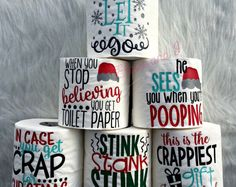 christmas toilet paper, funny christmas gifts, white elephant gift for men, gag gifts for women, christmas stocking stuffers, secret santa