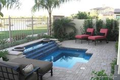 Would love a small little pool like this in the backyard!