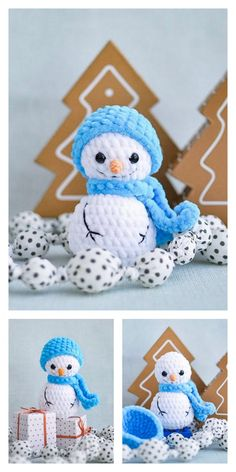 Amigurumi Small Snowman Free Pattern – Amigurumi Free Patterns And Tutorials Crochet Snowman, Crochet Christmas Trees, Christmas Tree Pattern, Holiday Crochet, Christmas Snowman, Crochet Ornaments, Christmas Decor, Christmas Gifts, Crochet Dolls Free Patterns