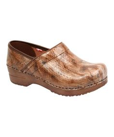 Take a look at this Brown Sonora Professional Clog - Women by Sanita on #zulily today!