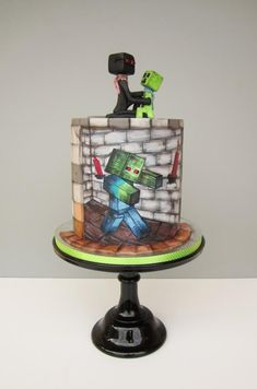 Minecraft cake by daruj tortu