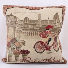 Obliečka na vankúš Florence, cm Cushion Covers, Pillow Covers, Cycling Girls, Decorative Pillow Cases, Cushions, Pillows, Cotton Linen, Home Accessories, Vintage World Maps
