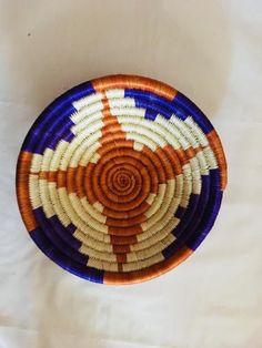 Vintage products/Vintage shop/ Art/Gift idea basket/ Fall decor/ Straw woven  basket/ Classic braided basket/ Sisal basket/ African wall art