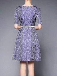 Paneled Polyester Knee Length dress