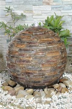 Stone Effect 50cm Sphere Water Feature