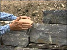 Stone Mason Builds Traditional Walls - YouTube