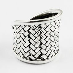 BRICK SHAPED ADJUSTABLE 925 STERLING SILVER RING #SilvexImagesIndiaPvtLtd #Statement